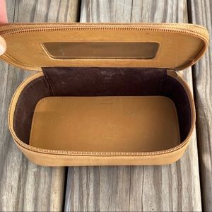 Coach - leather make up case w/ mirror